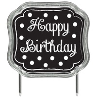 Cake Topper Happy Birthday Black