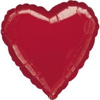Heart Metallic Red 45cm Foil Balloon