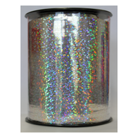 Curling Ribbon Holographic Silver