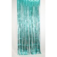 Teal Metallic Curtain