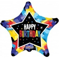 Happy Birthday Bright Colours 45cm Foil Balloon