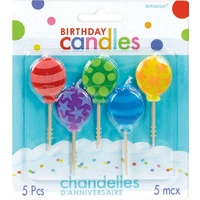 Happy Birthday Pick Candles - Balloons