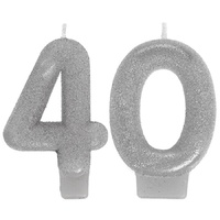 40th Sparkling Celebration Numeral Candles