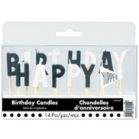 Chalkboard Happy Birthday Candles