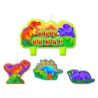 Dinosaur Prehistoric Party Candle Set