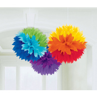 Fluffy Tissue Decoration - Rainbow