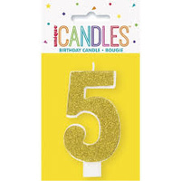 5th Glitter Gold Candle