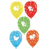 Farm Animals Assorted 30cm Latex Balloons