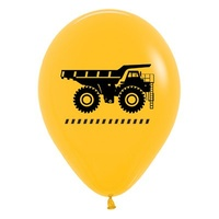 Construction Trucks 30cm Latex Balloons