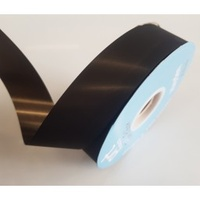 Tear Ribbon Black Satin