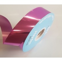Tear Ribbon Metallic Pink Rose