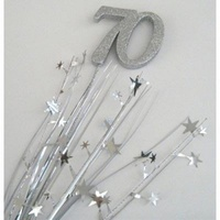 70th - Silver Glitter Spray