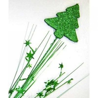 Spray Pick - Christmas Tree Glitter