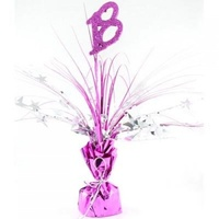 18th - Centrepiece Pink and Silver