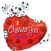 Love - Puppy I Chewz You Super Shape Foil Balloon