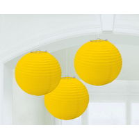 Yellow Sunshine Round Paper Lanterns