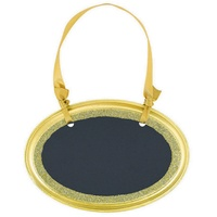 Chalkboard Mini Oval MDF Sign Gold Glitter