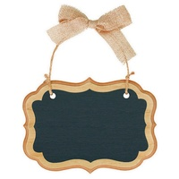 Chalkboard Marquee MDF Sign Natural Small