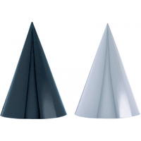 Party Hats - Black & White Foil Paper