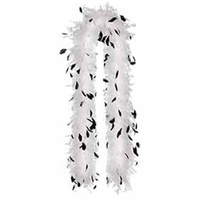 1920's Feather Boa Black and White