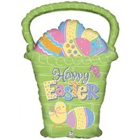 Easter Egg Basket Foil Balloon w/Helium (Local Purchase Only)