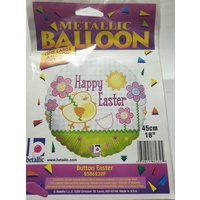 Easter Button Easter Foil Balloon w/Helium (Local Purchase Only)