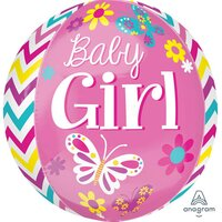 Beautiful Baby Girl Orbz Foil Balloon
