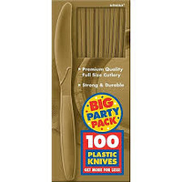 Gold Plastic Knives (Box of 100)