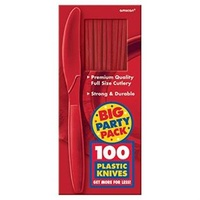 Red Apple Plastic Knives (Box of 100)