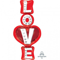 Love Stacked Super Shape Foil Balloon