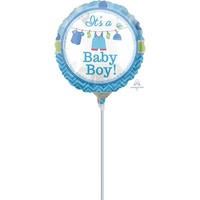 Shower w/Love Boy Foil Mini Air Inflated 22cm (Local Order Only)
