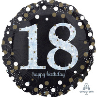 18th Sparkling Celebration 45cm Foil Balloon