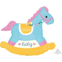 Baby Rocking Horse Super Shape Foil Balloon