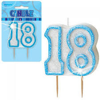 18th - Blue Glitz Candle