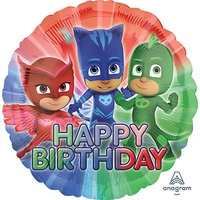 PJ Masks Happy Birthday 45cm Foil Balloon