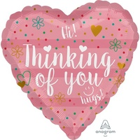 Thinking of You Coral 45cm Foil Balloon