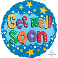 Get Well Soon Star 45cm Foil Balloon