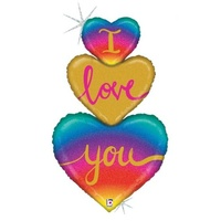 I Love you Heart Trio Super Shape Foil Balloon