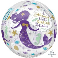 Mermaid Wishes Orbz Foil Balloon