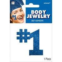 #1 Blue Body Sticker