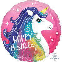 Unicorn Happy Birthday 45cm Foil Balloon