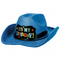 Western Birthday Brights Flocked Cowboy Hat