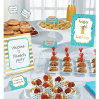 1st Birthday Boy Buffet Decoration Kit