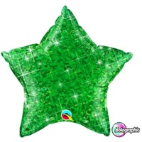 Star Holographic Jewel Green 45cm Foil Balloon