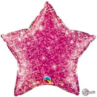 Star Holographic Jewel Magenta 45cm Foil Balloon