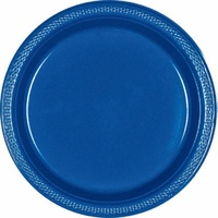 Blue Royal Plastic Lunch Plates (Pkt 20)