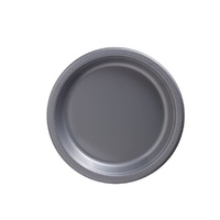 Silver Plastic Lunch Plates (Pkt 20)