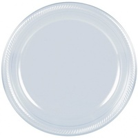 Clear Plastic Lunch Plates (Pkt 20)
