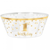 1st Birthday Serving Bowl