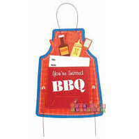 BBQ Chefs Apron Invitations